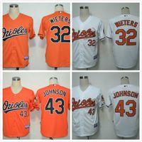 Wholesale Hot Sale markakis Jersey Orange Baltimore Orioles wieters johnson Baseball Jersey White Black Top Quality