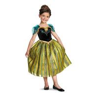 Cheap Xmas Gift 2014 tutu kidsdress girl party dress anna princess costume baby girls elsa dress new frozen dress