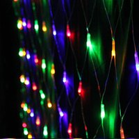 Bon Marché Rgb led net-UK! 4mx6m 672 ampoules LED Net cannées lumières de Noël à cordes Eclairage LED Cordes pour Party Decoration vacances de Noël au Royaume-Uni standard