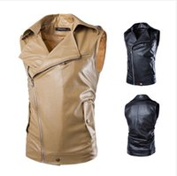 Cheap Fall-Inclined zipper sleeveless garment men brief paragraph cultivate one's morality leisure lapel washing machine machine wagon vest