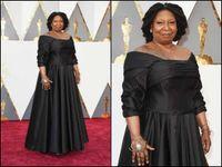 Wholesale Whoopi Goldberg Oscar th Academy Awards Plus Size Celebrity Red Carpet Dresses Off Shoulder Sleeves Prom Dress Floor Length