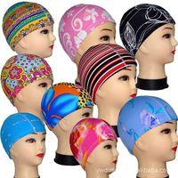Wholesale Swimming cap stock grant manifest individually wrapped cloth swimming cap swimming cap adult children multicolor spot grant