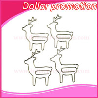 Wholesale 2016 DHL promotional gifts custom Christmas gifts lovely silver deer shape paper clip for customer paid balance link