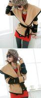 Wholesale 2014 Winter Fashion Womens Irregular Batwing Sweater fur amp wool Loose Warm cape Knitted Sweater Cardigan Top Coat b9
