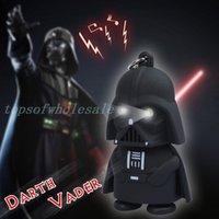 Wholesale LED Star Wars Darth Vader Keychains with Sound Light Lamp Flashlight Keychain YODA Black Star wars LED Keyrings luminous Dark Warrior sale