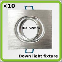 Wholesale 10 led ceiling lights fixture square shape cutout dia mm led down lights aluminum for MR16 GU10 spot lights