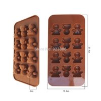 Cheap Wholesale Freeshipping 200pcs lot 12 even face baby face angel doll DIY jelly chocolate cake moulds pudding mold bakeware S21