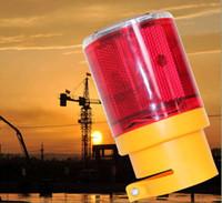 Precio de El tráfico de potencia-2 pieza advertencia semáforo energía solar 6 LED parpadeante LED soalr A0013 advertencia de emergencia lámpara de alarma baliza de señal safty