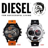 Wholesale 2015 Hot Selling Brand DZ7312 Wristwatches Atmos Clock Leather men Watches Waterproof Luxury Watch Men Military mens Watches