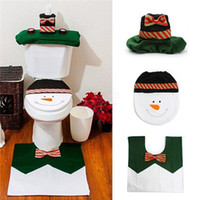 automatic toilet seat cover - Automatic Toilets Christmas Hot Santa Claus Toilet Seat Cover Rug Bathroom Set Christmas Decoration Gifts Toilets Cover