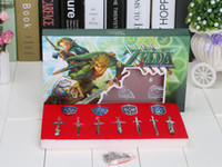 Wholesale The Legend of Zelda Weapons Link Swords set Keychains Necklace for Xmas Gift