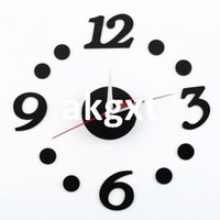 Wholesale Details about DIY Self Adhesive Room Interior Decoration Digit Dot Number Decor Wall Clock C9 D504