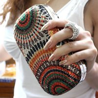 Wholesale Classical Personality Colorful Sequins Women s Clutches Fashion Finger Ring Purse Shining Evening Bags For Wedding Party