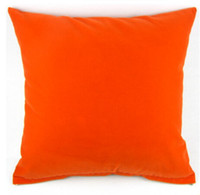 Wholesale Price High Quality Solid Orange Red Plain Design Pillow Case Decor Cushion Cover Square quot cm PG01