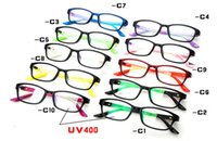 Wholesale 2014 New Arrival Fashion Plain Glasses Diamond Mounted Frames Student UV400 Spectacle Goggles