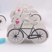 baby bike - 50pcs Bike Pattern Candy Boxes Baby shower Gift Box Wedding Favours New