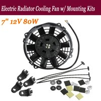 Wholesale 2015 New inch V W Slim Reversible Electric Radiator Cooling Fan Push Pull Easy Install order lt no track