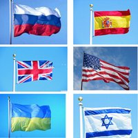 ukraine - Outdoor Stardard Size x5 Feet x90cm Flying National Polyester Flag American United Kingdom Russia Spain Isreal Ukraine China