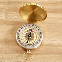 Wholesale Pocket Brass Watch Vintage Antique Style Ring KeyChain Camping Hiking Compass Navigation Outdoor Tool with a luminous style MOQ