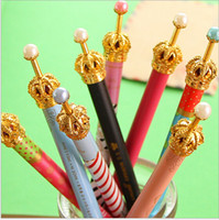 Wholesale 18 OFF DROP SHIPPING fresh and lovely small metal crown pen gel pen YP