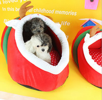 korean style blankets - Cute Dog Cats Bed Warm Pets Sofa Stuffed Cushion House Christmas Gift Indoor Sleeping Kennel Deer Bee Style for Kitty Teddy