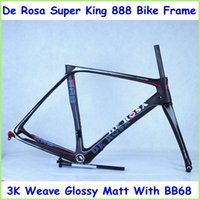 bicycle frame parts - De Rosa Super King Carbon Bike Frame High Quality Black Color Road Bicycle Frame K Glossy Matte With BB68 Bicycle Parts Fast Shipping