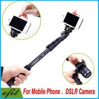 Wholesale YunTeng Aluminum Alloy Extendable Handheld Selfie Monopod Self timer Stick For SLR Digital Camera Moblie Cell Phones i6 S5 Note