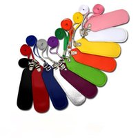 Wholesale colorful e cig battery PU Leather pouch ego portable carrying bag necklace lanyard for ego t e cigarette ego c twist vision spinner ego v