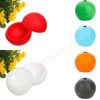 Wholesale Silicone Round Ball Maker Mold Sphere Cool Ice Mould Whisky Drinking