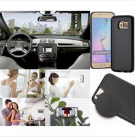 anti gravity car - Anti gravity Plastic case For iPhone S plus Magical Anti gravity Nano Suction Cover Adsorbed car Hard Case Shell Black