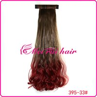 Wholesale Mawei pat circle color gradient color gradient pear volume ponytail ponytail dyed red light brown gradient