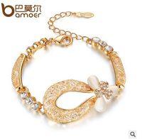 Wholesale Valentines Day Gifts Luxury Opal Zircon Bracelets Austrian AAA Zircon Real K Gold Plated Women Jewelry Gifts