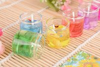 Wholesale 6pcs Creative Wedding Favor Gift Gel Wax jelly candle birthday party Valentine s Day Gift ideas home decoration