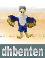 Wholesale LAI1755 New Custom made Blue Falcon Mascot Costume Cartoon Character Eagle Bird Mascotte Mascota Outfit Suit Fancy Dress Suit