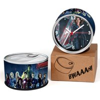 Wholesale Clocks Wall Clocks Avengers Age of Ultron Iron Man Captain America Thor Hulk Black Widow Star Top Gift Can Clocks Magnet