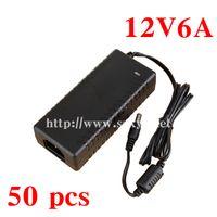 Wholesale V6A AC V V Converter Adapter DC12V6A W Power Supply DC x mm for LED Light LCD Monitor transformer