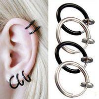Wholesale 60pcs Unisex Women Men Fashion Colors Fake Spring Action Non Piercing Nose Septum Ear Cartilage Ring