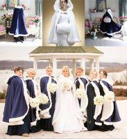 apricot flowers - 2016 Winter Fur Hood Cloaks Boleros Wedding Dresses Cape Bridal Faux Fur Girls Wrap Navy Blue White Bridesmaids Flowers Shawls Shrug Jackets