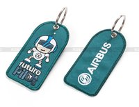 airline pilot - Fashion Jewelry Key Chains Creative Key Chain Keychain Airbus Embroider Colorful Fabric Cloth for Future Pilot Fight Crew Airline Hostess