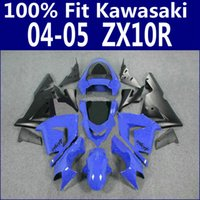 plastic injection molding - Injection molding fairing kit for Kawasaki ZX R ZX R blue black plastic fairings set ZX10R LP29 gifts