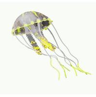 Wholesale Non toxic Eco friendly Silicone Artificial Glowing Simulation Jellyfish Aquarium Decor Home Fish Tank Decoration Ornament