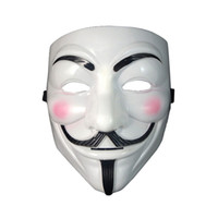Cheap Wholesale-Halloween Masks for Adults V for Vendetta Guy Fawkes Masks for Halloween Costumes Party Heat selling