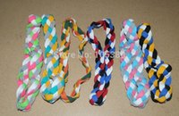 Wholesale by DHL DHL Woman Girl Baseball headband sports rope braided mini headband