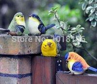 Wholesale Cute Fat Bird Decoration Figurines for Home Decoration Resin Crafts Figurines for Garden Decoration CM CM