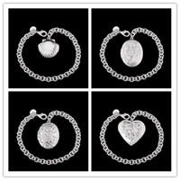 beautiful photo gifts - Mixed order new design silver photo frame pendant charm bracelet fashion jewelry beautiful Christmas gift