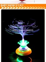 Wholesale 2015 new Crown flash music Optical fiber Spinning Top Electronic Toys min
