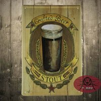 beer stout - Stout Beer painting Vintage Tin signs Wall Craftea beer iron painting A Mix Items CM