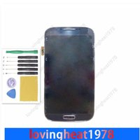 Wholesale 1 LCD screen display with frame and tools For Samsung Galaxy S4 i9500 i9505 i337 i545 L720 LCD digitizer
