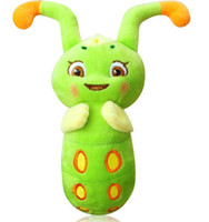 animal speech - 2015 High quality New Children Gifts Green Caterpillar For Stuffed Animals Originality Luminescence Can Speech Kids Plush Toys CM CM