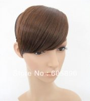 Wholesale piece Ladies synthetic hair fringe bangs clips on three colors drop shipping